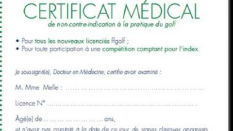 Certificat médical 2017