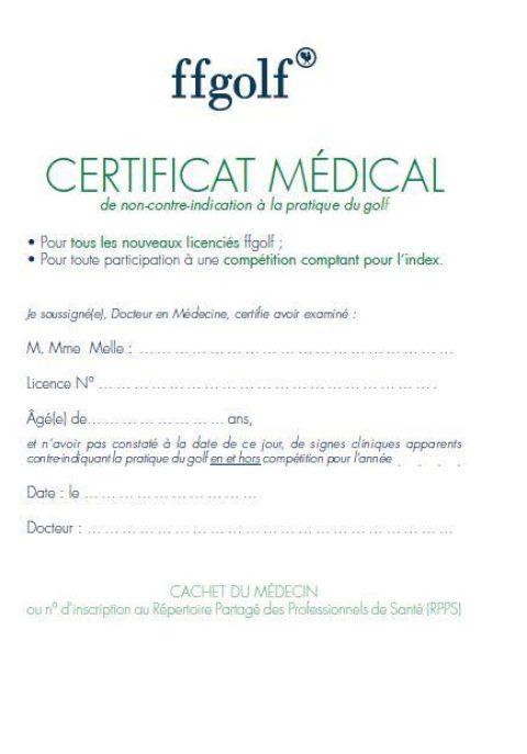 Certificat Médical en 2018