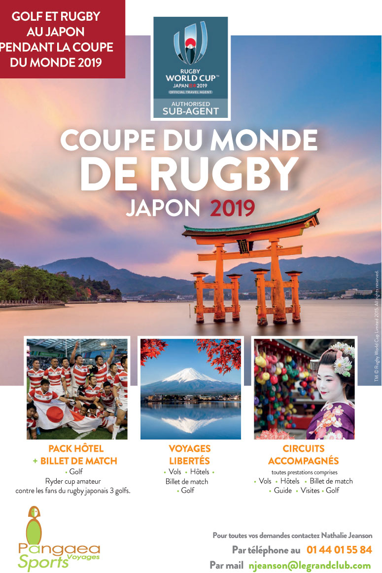 Coupe du monde de Rugby et Golf au Japon